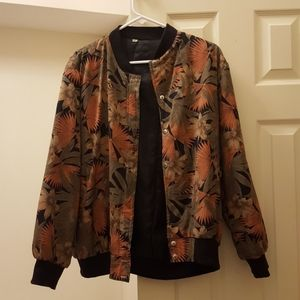 Jackets & Blazers - 2 for $30 - Floral Vintage Oversized Bomber Jacket